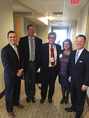 Pictured from left: Jeff Sprague, Allen County Economic Development; Joe Patton, OhioMeansJobs - Allen County, Doug Arthur, Allen County Economic Development; Tracie Sanchez, Lima Pallet; and Ryan Burgess, Director, Governor's Office of Workforce Transformation.