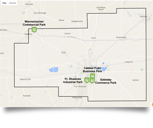 Industrial parks Map